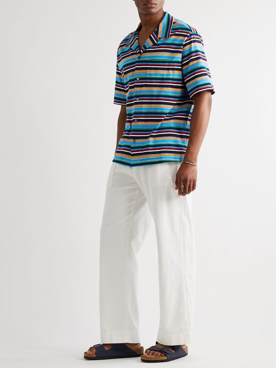 Missoni Camp-Collar Striped Cotton-Jersey Shirt