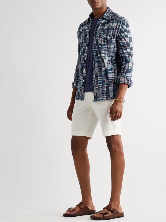 MISSONI Space-Dyed Crochet-Knit Cotton Shirt