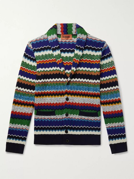 Missoni Crochet-Knit Cotton and Wool-Blend Cardigan