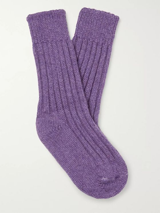 The Elder Statesman Yosemite Mélange Cashmere Socks