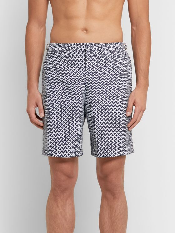 Orlebar Brown Dane II Long-Length Printed Swim Shorts