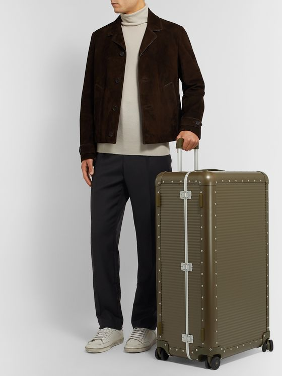 Fabbrica Pelletterie Milano + Nick Wooster Bank Spinner 84cm Aluminium Suitcase
