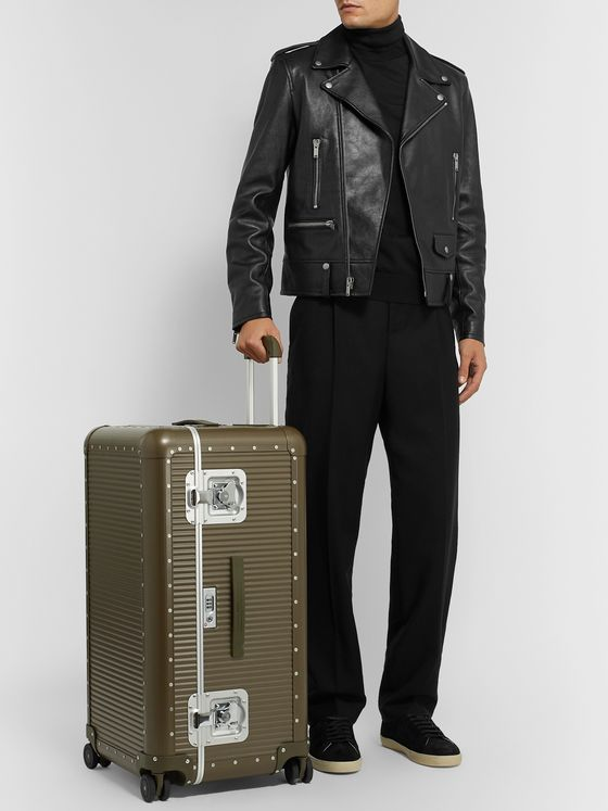 Fabbrica Pelletterie Milano + Nick Wooster Bank Trunk On Wheels Aluminium Suitcase