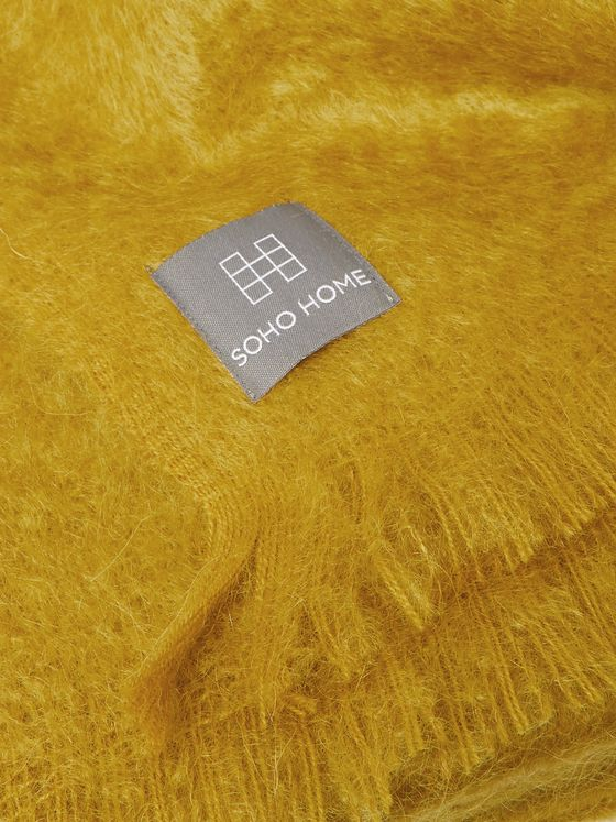 Soho Home Alba Fringed Mohair-Blend Throw