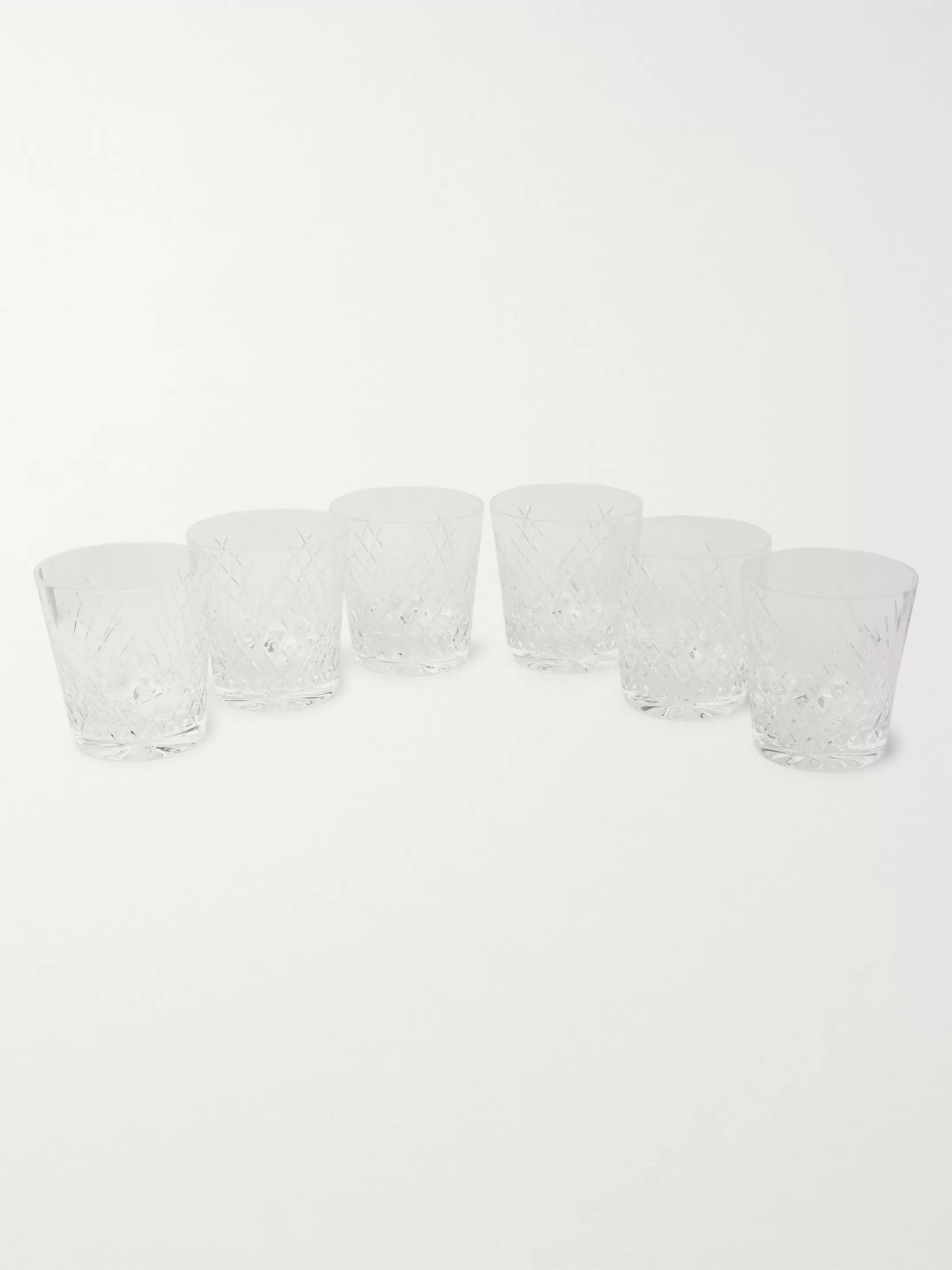 Soho Home Barwell Set of Six Cut Crystal Rocks Glasses