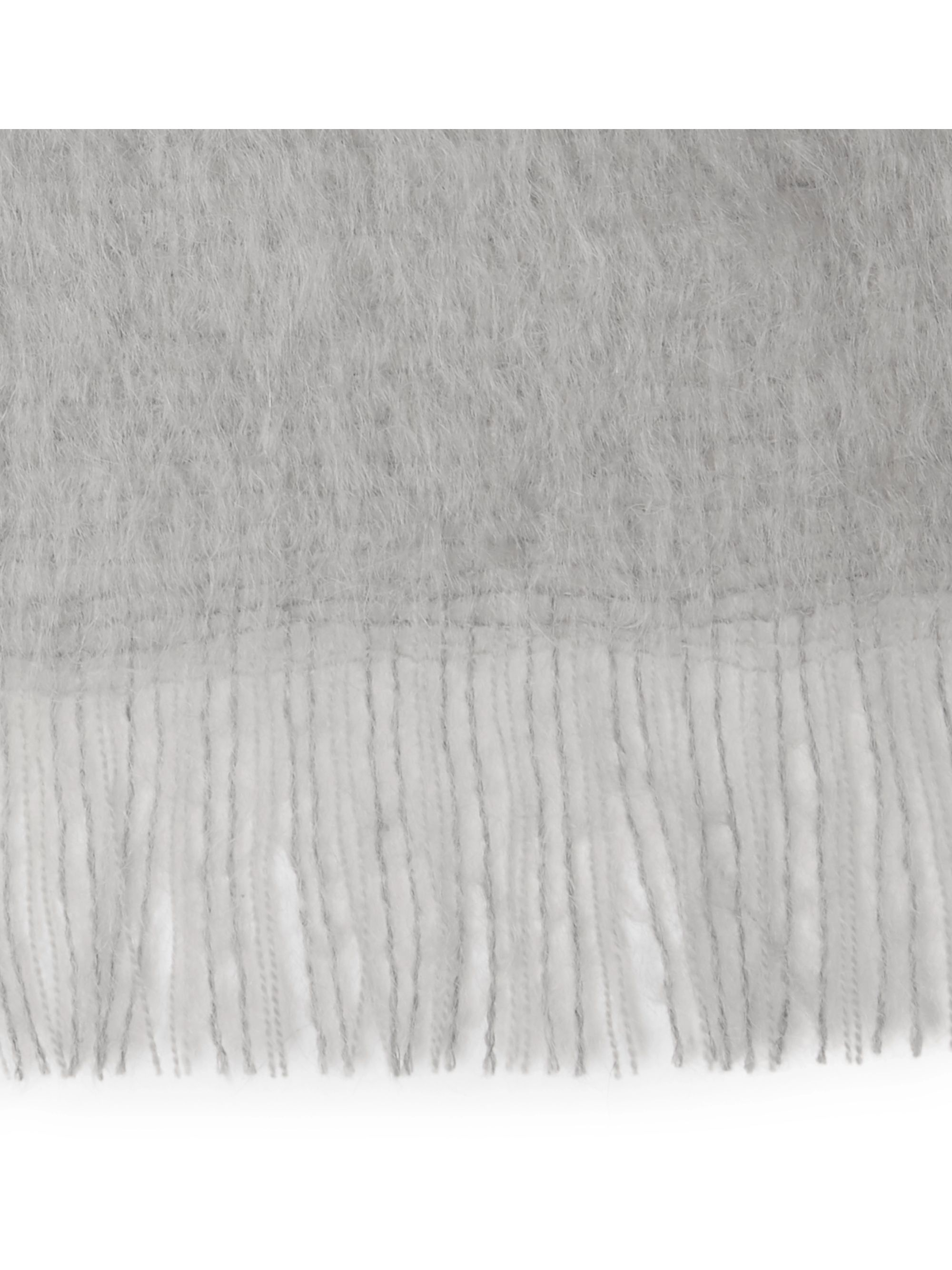 Soho Home Alba Fringed Mohair-Blend Blanket