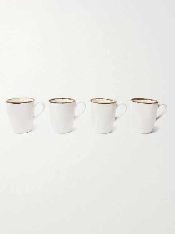 Soho Home Set of 4 Sola Stoneware Mugs