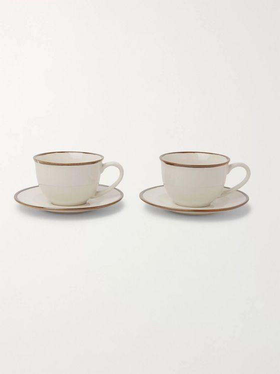 Soho Home Sola Stoneware Cup and Saucer Set