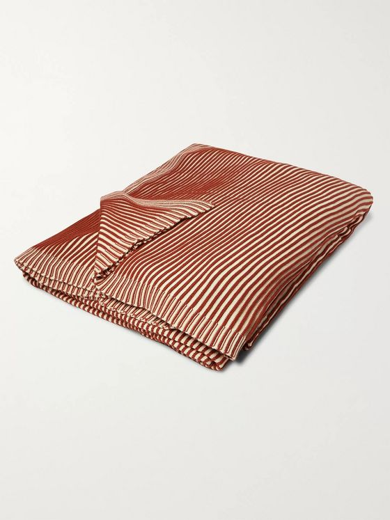 Soho Home Warehouse Striped Cotton Blanket