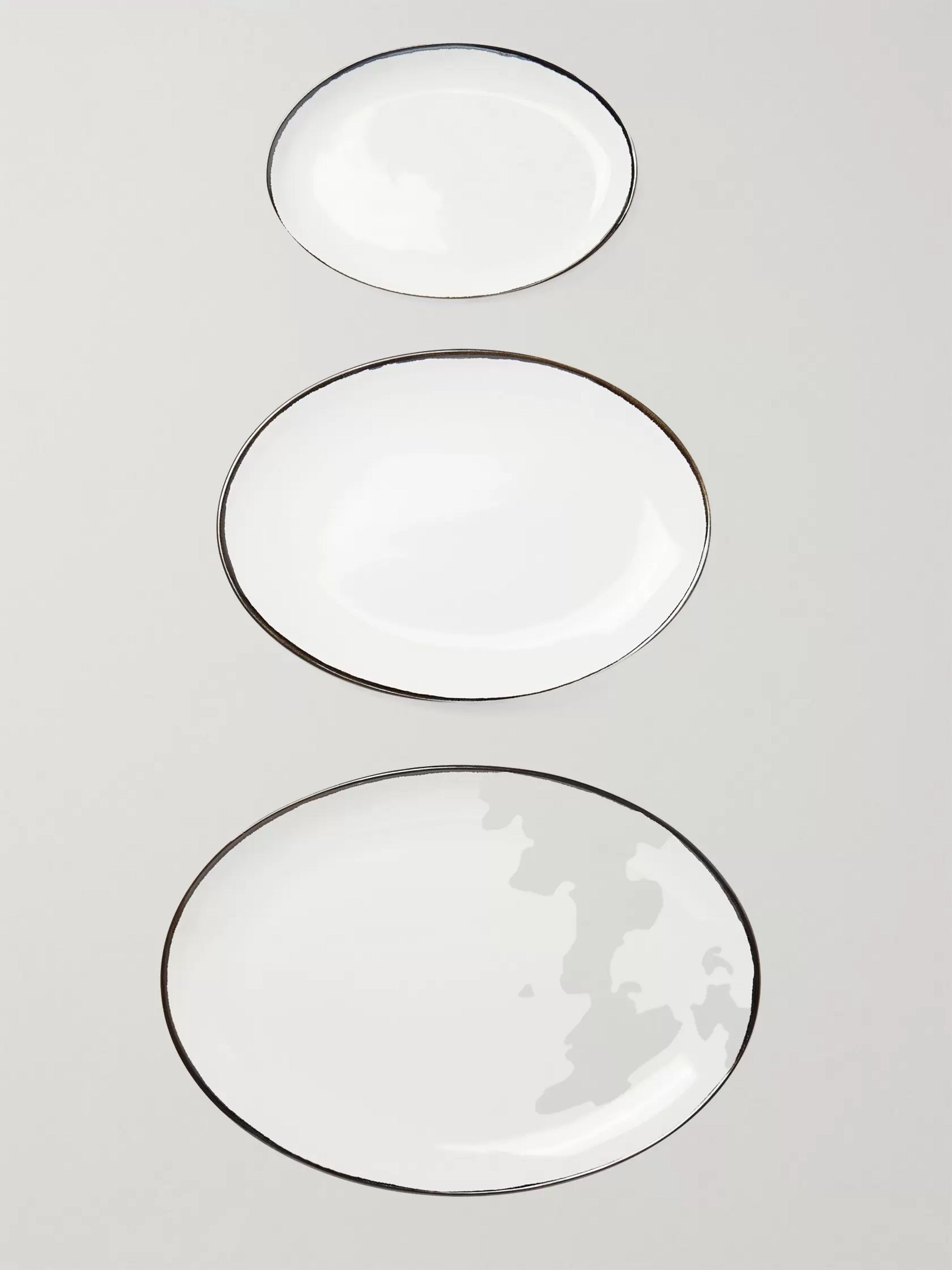 Soho Home Set of Three Sola Stoneware Platters