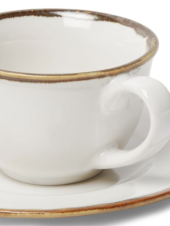Soho Home Sola Four-Piece Ceramic Espresso Cup and Saucer Set