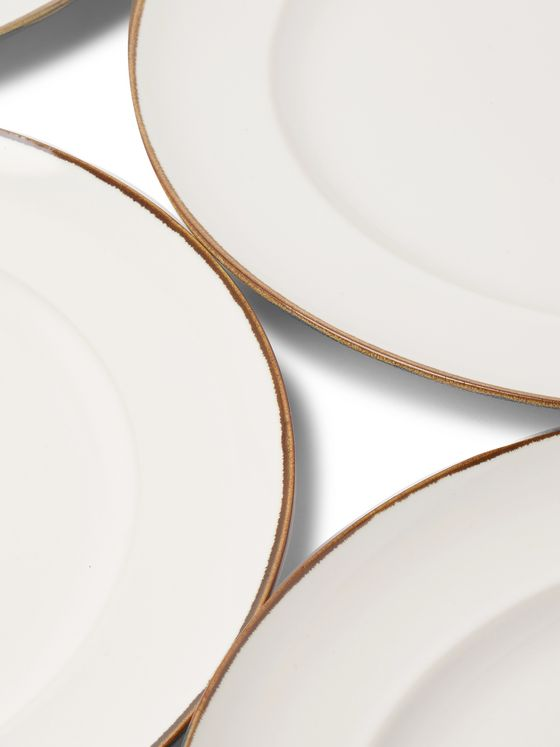 Soho Home Sola Set of Four Stoneware Dinner Plates