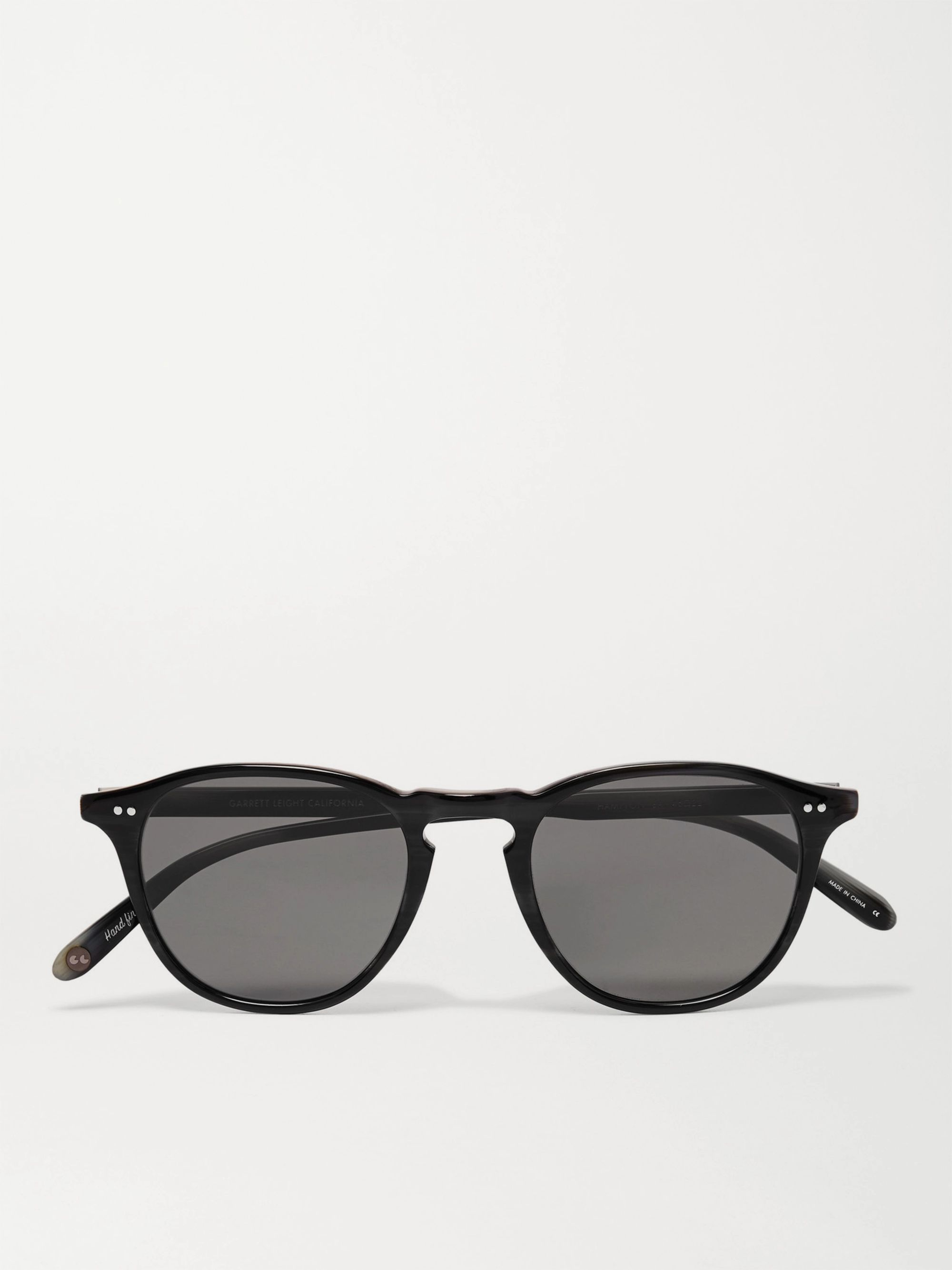 Garrett Leight California Optical Hampton Sun Round-Frame Acetate Sunglasses