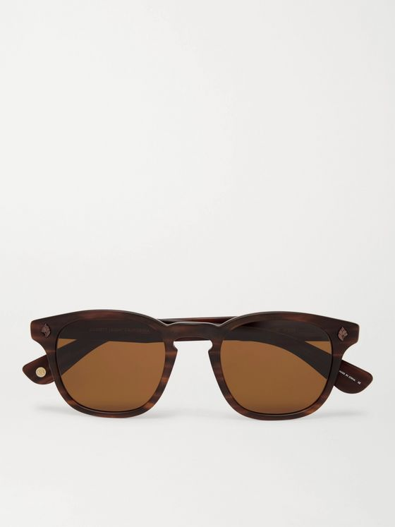 Garrett Leight California Optical Ace 47 Square-Frame Tortoiseshell Acetate Sunglasses