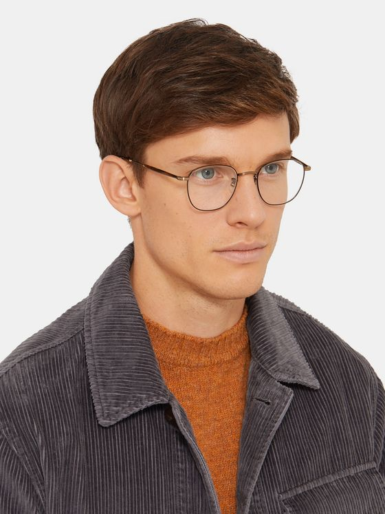 Garrett Leight California Optical Grant M Round-Frame Gold-Tone and Tortoiseshell Acetate Optical Glasses