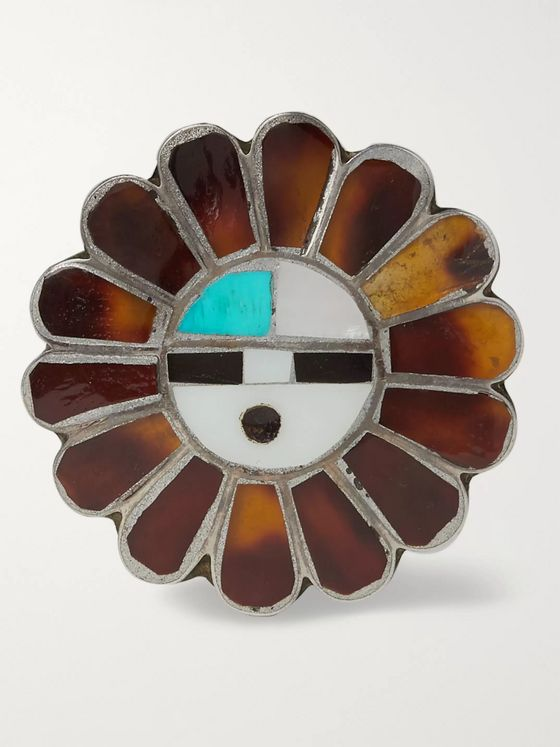Foundwell Burnished Sterling Silver Multi-Stone Pin