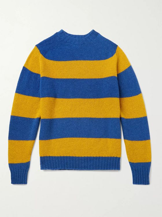 Aimé Leon Dore + Drake's Striped Wool Sweater