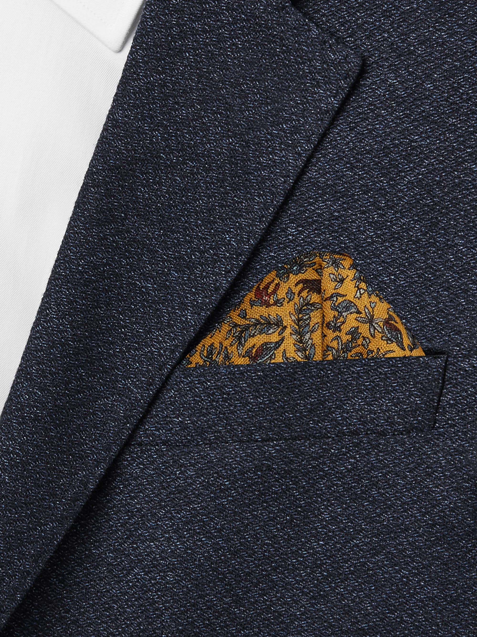 Aimé Leon Dore + Drake's Printed Wool and Silk-Blend Pocket Square