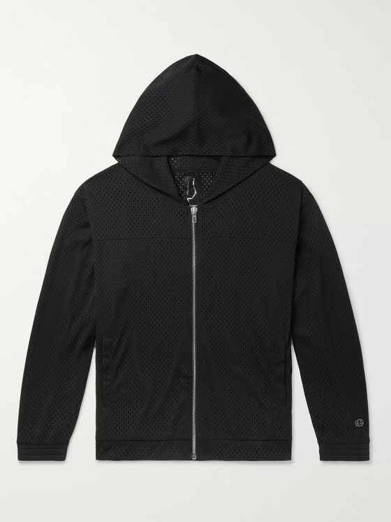 Rick Owens + Champion Mesh Zip-Up Hoodie
