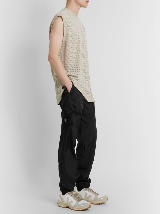 Rick Owens + Champion Tapered Logo-Appliquéd Shell Track Pants