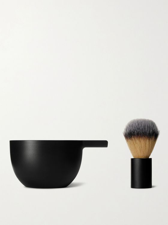 Angle by Morrama Brush and Bowl Shaving Set