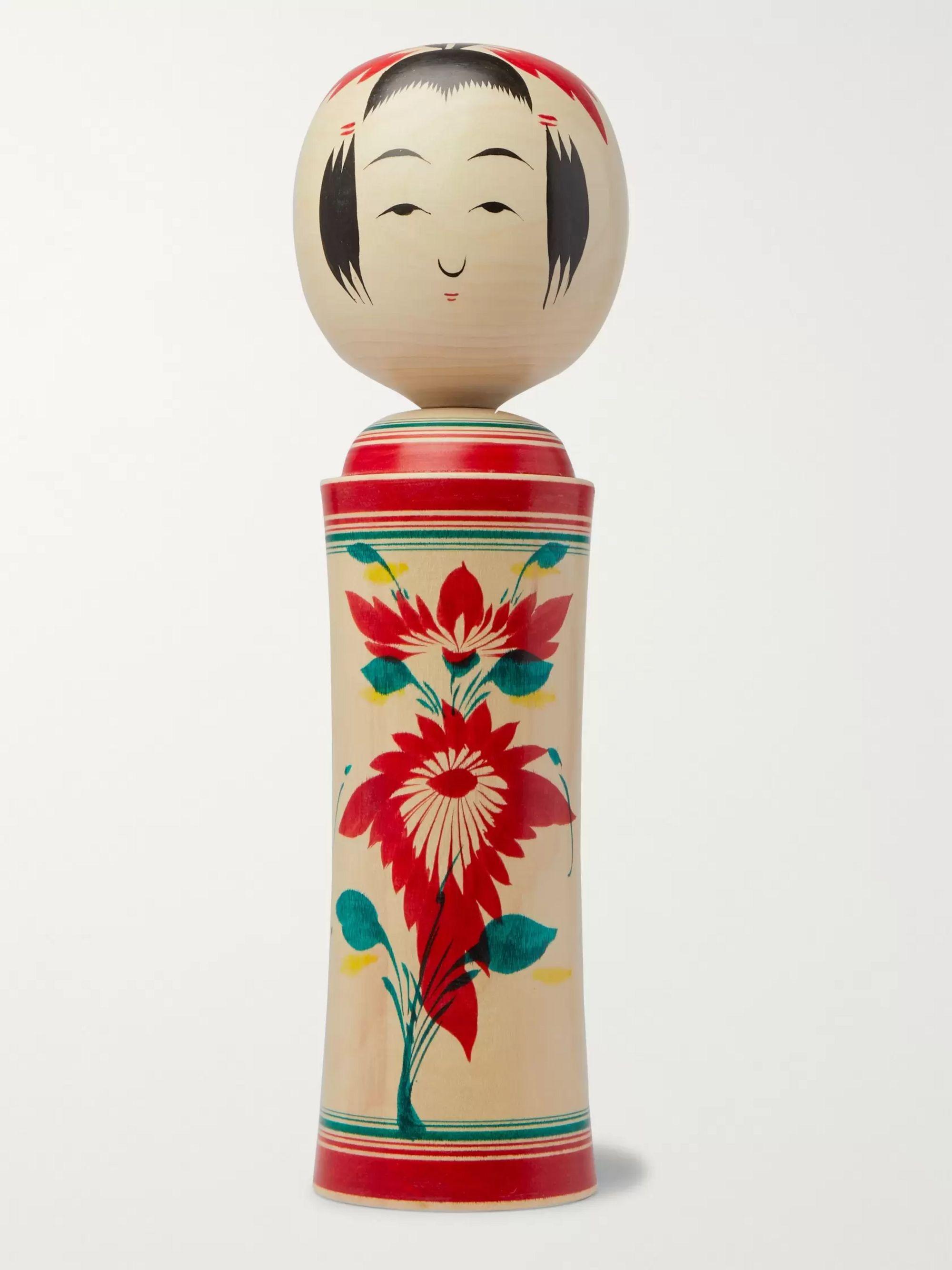 Vintage Japanese Kokeshi Doll B10a - SMALL - Mustard Vintage
