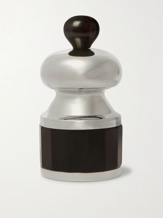 LORENZI MILANO Pewter and Ebony Salt and Pepper Grinder Set