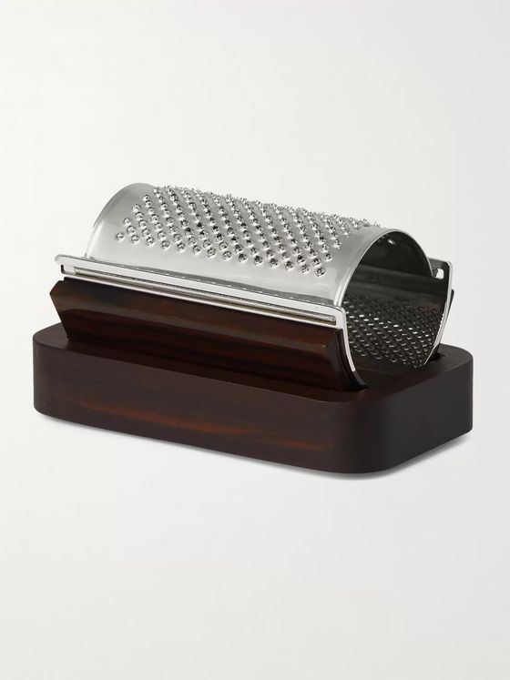 Lorenzi Milano Ebony and Stainless Steel Parmesan Grater