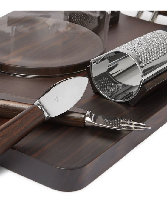 Lorenzi Milano Ebony and Stainless Steel Parmesan Cheese Set
