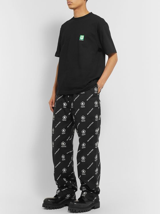 Balenciaga + World Food Programme Logo-Print Cotton-Poplin Trousers