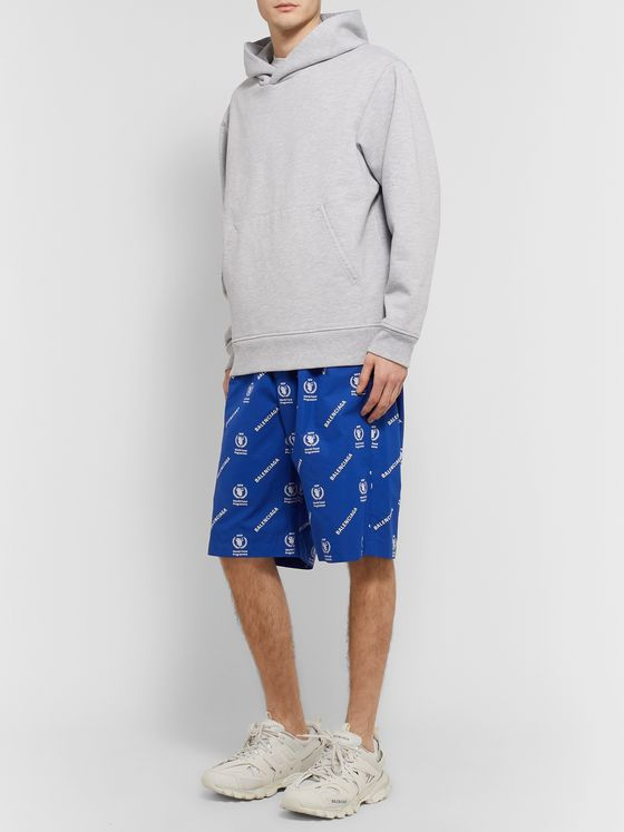 Balenciaga + World Food Programme Oversized Logo-Print Cotton Shorts