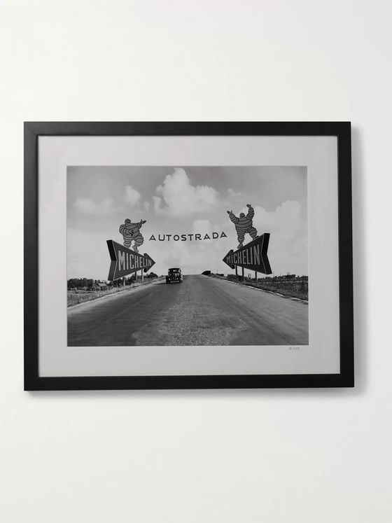 "Sonic Editions Framed 1947 Turin-Milan Autostrada Print, 16"" X 20"""