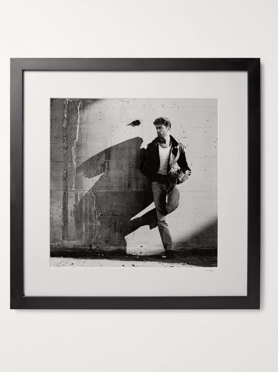 "Sonic Editions Framed 1988 George Michael Print, 16"" x 16"""