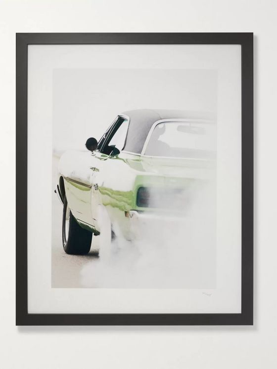 "Sonic Editions Framed 1997 Dewey Nicks GTX Burnout Print, 16"" x 20"""