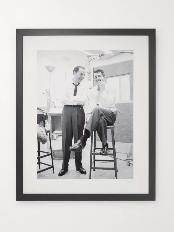 "Sonic Editions Framed 1965 Dean Martin and Frank Sinatra Recording in LA Print, 16"" x 20"""