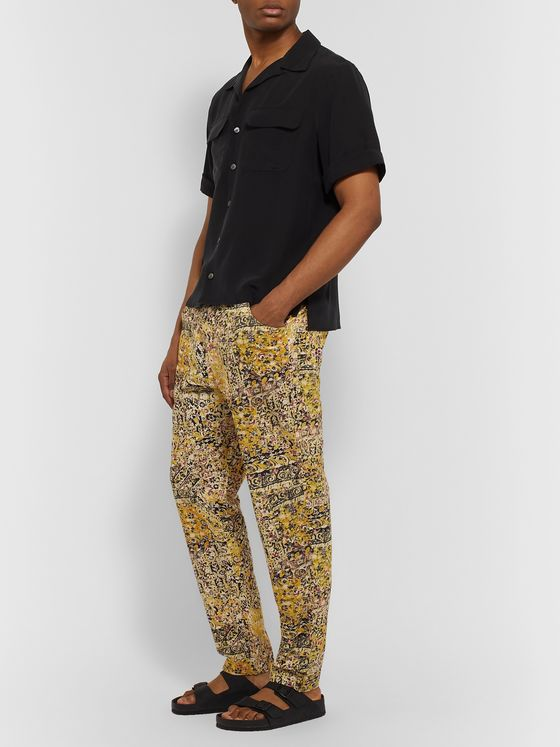 Isabel Marant Rowland Printed Cotton Drawstring Trousers