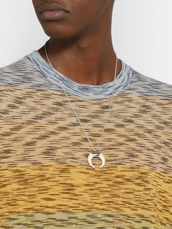 Isabel Marant Silver-Tone and Horn Necklace