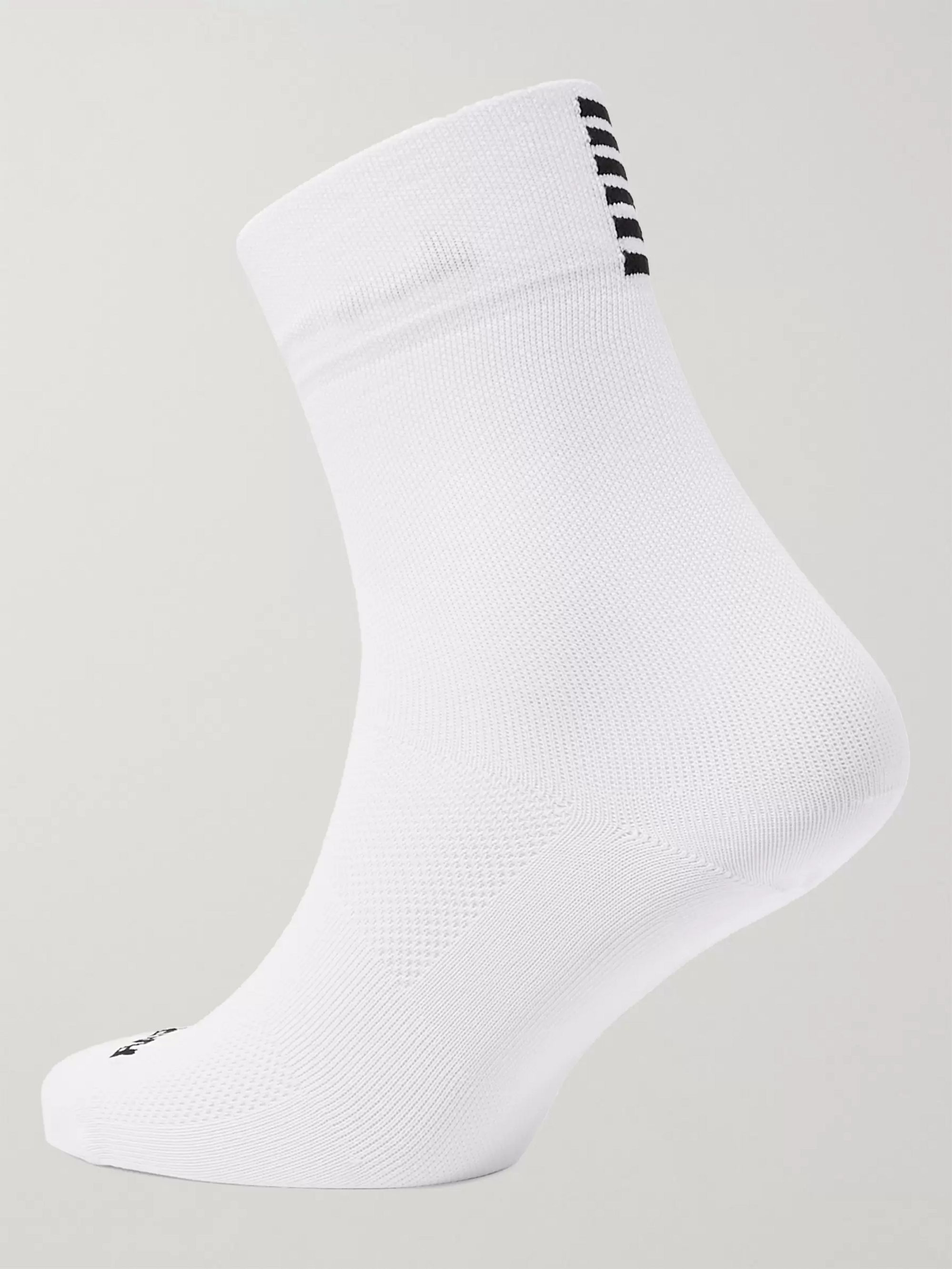 Rapha Pro Team Striped Mesh-Panelled Stretch-Knit Socks