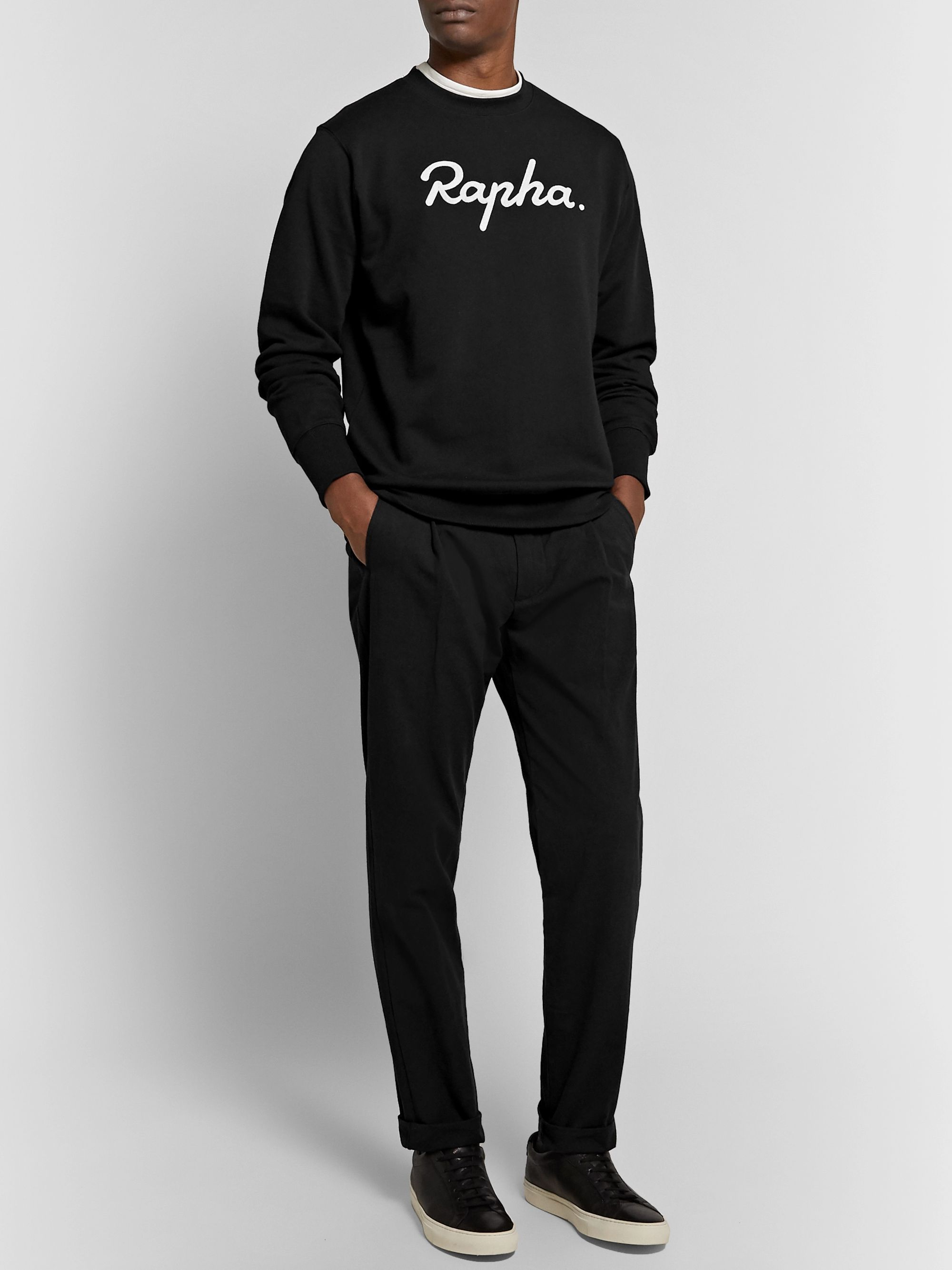 Rapha Logo-Embroidered Fleece-Back Cotton-Jersey Sweatshirt
