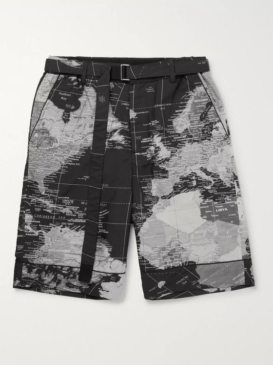 Sacai Printed Shell Shorts