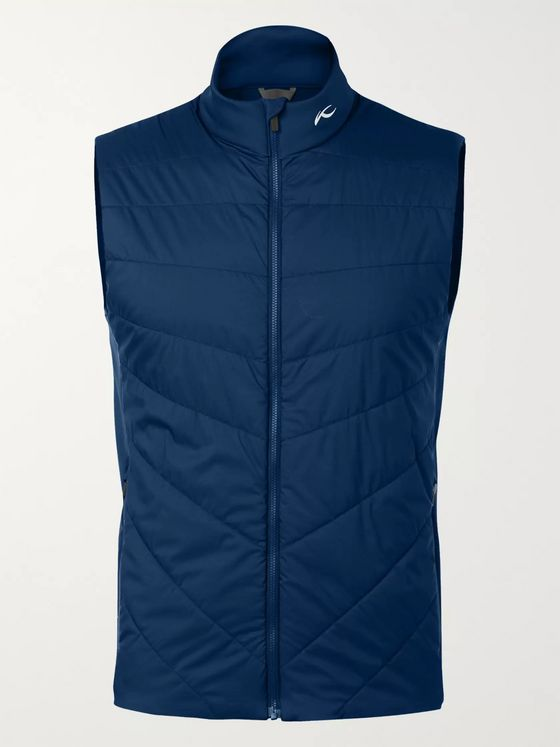 Kjus Golf Retention 2.0 Quilted Padded Shell and Stretch-Jersey Vest
