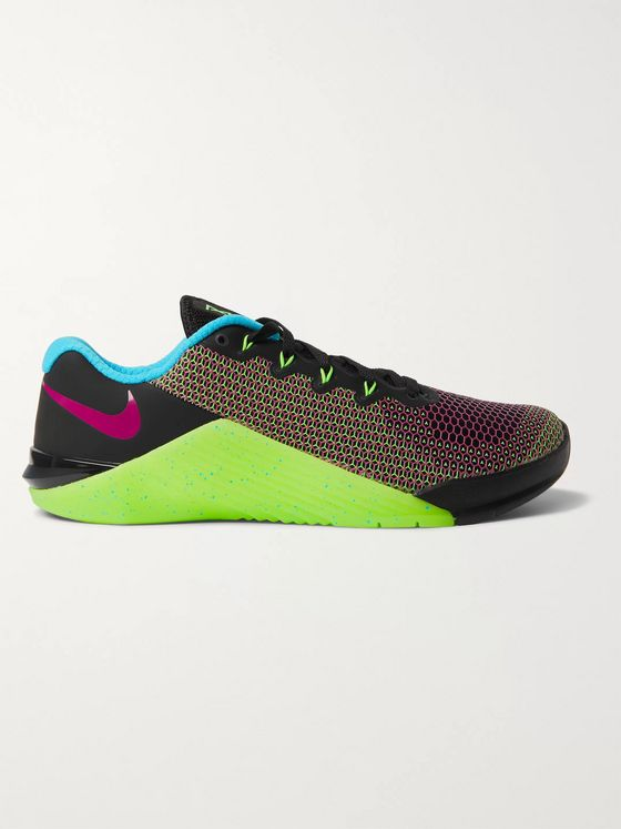 Nike Training Metcon 5 AMP Rubber-Trimmed Mesh Sneakers