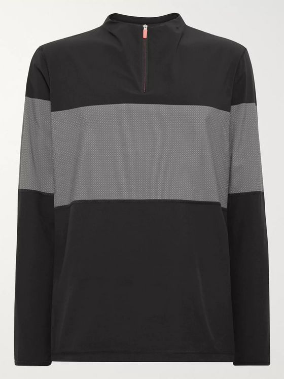 Adidas Golf Colour-Block Stretch-Shell and Mesh Half-Zip Golf Jacket