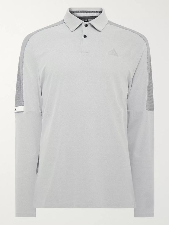 Adidas Golf Colour-Block Mesh Golf Polo Shirt