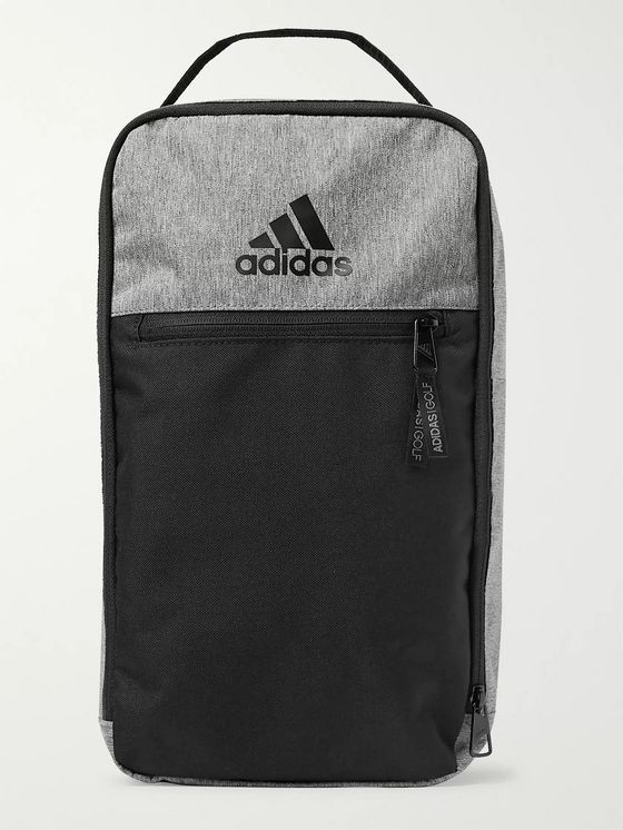 Adidas Golf Logo-Print Colour-Block Shell Golf Shoe Bag