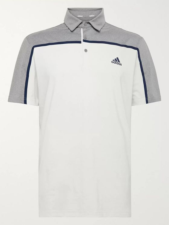 Adidas Golf Ultimate 365 Colour-Block Stretch-Jersey Golf Polo Shirt