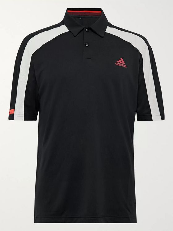 Adidas Golf Colour-Block HEAT.RDY Mesh Golf Polo Shirt