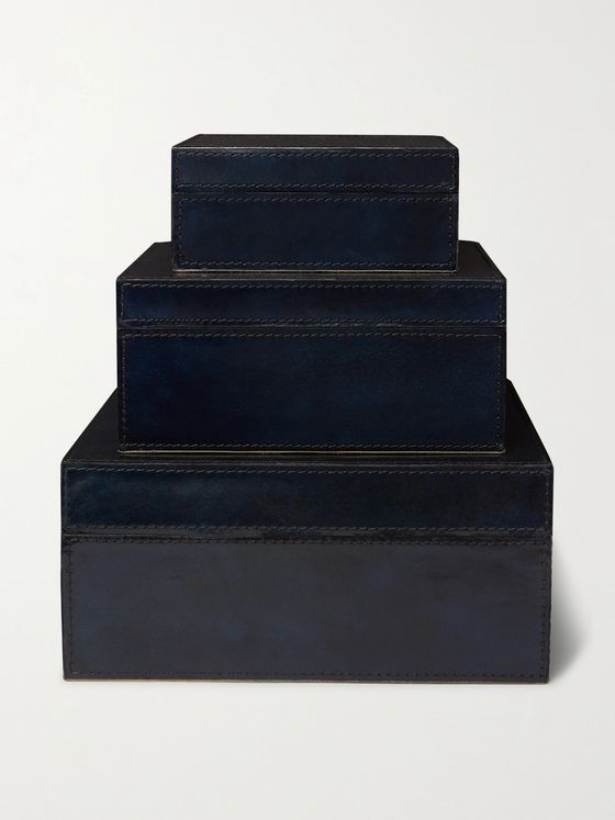 Ben Soleimani Set of Three Leather Boxes