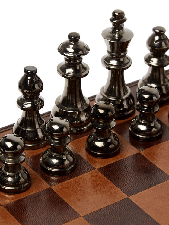 Ben Soleimani Leather, Wood and Metal Chess Set