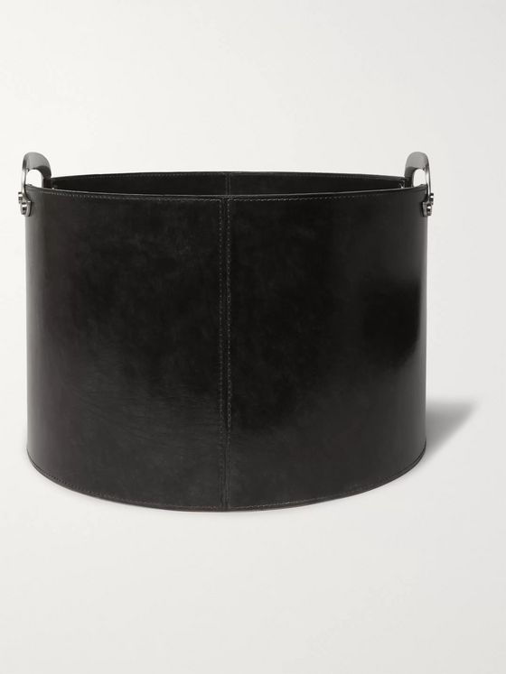 Ben Soleimani Leather Log Basket